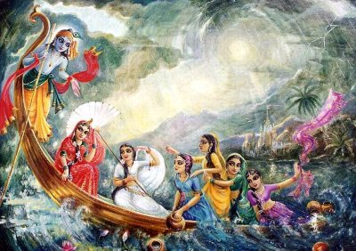 Krishna the Transcendental Boatman
