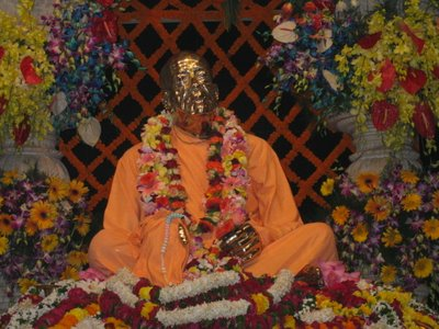 Srila Prabhupada at his Samadhi Mandir