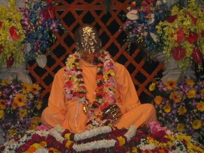 Srila Prabhupada at his Samadhi Mandir