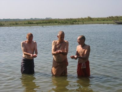Ashes Ceremony at the Ganga