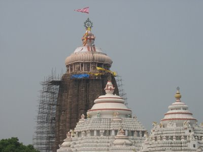 Chakra and Flag on top of Lord Jagannatha's Temple