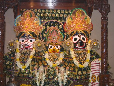Jagannatha, Subhadra and Baladeva at Albert Road